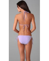 Shoshanna | Purple Ruffle Bikini Top | Lyst