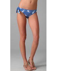 Tibi - Blue Seahorse Print Bikini Bottoms - Lyst