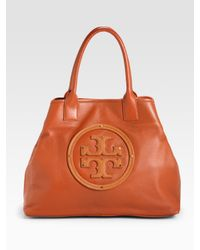 Tory Burch | Brown Stacked Logo Summer Tote Bag | Lyst