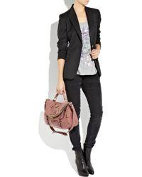 Alexander McQueen - Pink Faithful Medium Polished-leather Satchel - Lyst