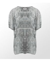 Amen | Gray Turtle Print Tunic Top | Lyst