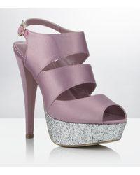 Carvela Kurt Geiger | Purple Gambia Platform Sandal | Lyst