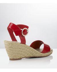 Carvela Kurt Geiger | Red Kustard Wedge Sandal | Lyst
