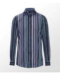 Duchamp | Blue Multistripe Slim Fit Shirt for Men | Lyst