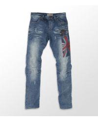 John Galliano | Blue Union Jack Jean for Men | Lyst
