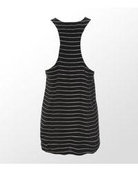 Joie | Black Saunders Silk Metallic Striped Tank | Lyst
