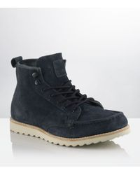 KG by Kurt Geiger Blue Lodge Suede Boot for men