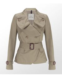 Moncler | Natural Short Trench Coat | Lyst