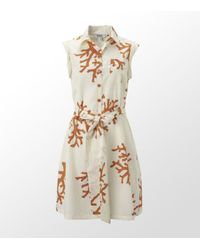 Boutique Moschino | White Coral Print Shirt Dress | Lyst
