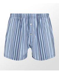 Paul Smith | Blue Classic Stripe Woven Boxer Short for Men | Lyst
