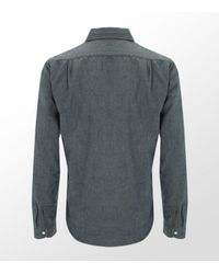 Ralph Lauren | Blue Reversible Denim Check Shirt for Men | Lyst