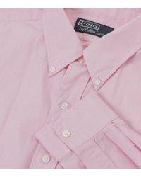 Ralph Lauren | Pink Bleecker Custom Fit Shirt for Men | Lyst