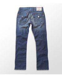 True Religion | Blue Nathan Straight Leg Jeans for Men | Lyst