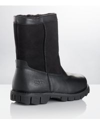 UGG Black Beacon Leather and Suede Boot for men
