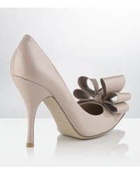 Valentino | Natural Stylish Bow Pump | Lyst