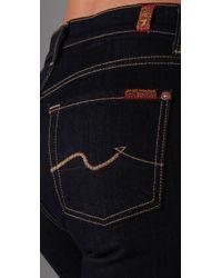 7 For All Mankind | Blue High Waist Straight Leg Jeans | Lyst