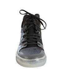 Balenciaga - Black and Grey Patchwork Hi-top Sneakers for Men - Lyst