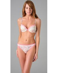 Calvin Klein | Pink Perfectly Fit Bouquet Push Up Bra with Lace | Lyst