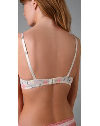 Calvin Klein - Pink Perfectly Fit Bouquet Push Up Bra with Lace - Lyst