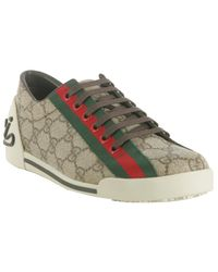 Gucci | Natural Beige Gg Plus Boulevard Sneakers | Lyst