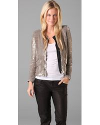 IRO | Metallic Yulli Sequin Moto Jacket | Lyst