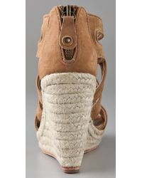 Twelfth Street Cynthia Vincent | Brown Juno Espadrille Wedge | Lyst