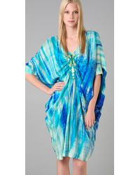 Antik Batik | Blue Naolie Print Caftan Dress | Lyst