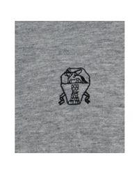 Brunello Cucinelli - Gray Grey Cotton Jersey Logo Detail Polo for Men - Lyst