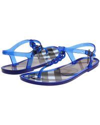 Burberry | Blue Nova Check Jelly Sandal | Lyst