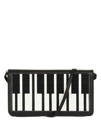 Les Petits Joueurs | Black Piano Lego Leather Clutch | Lyst