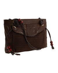 Nanette Lepore - Brown Crochet & Leather Crossbody - Lyst