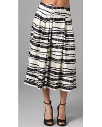Rachel Roy | Black Pleat Skirt | Lyst