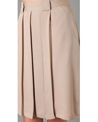 Raoul - Natural Box Pleated Skirt - Lyst