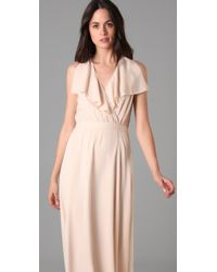 Raoul | Pink Wrap Over Long Dress | Lyst