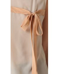 3.1 Phillip Lim - Natural Floating Bow Tie Top - Lyst