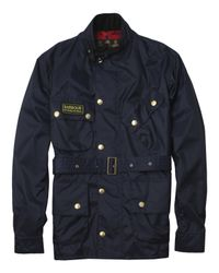 Barbour - Blue Navy Nylon International Jacket for Men - Lyst