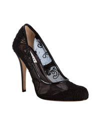 Badgley Mischka - Black Embroidered Lace Oakes Pumps - Lyst