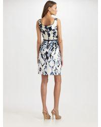 Elie Tahari - Blue Kearney Silk Georgette Dress - Lyst