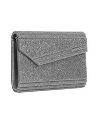 Jimmy Choo | Metallic Silver Glitter Resin Candy Convertible Clutch | Lyst