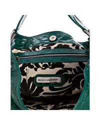 Rebecca Minkoff | Green Dark Teal Leather Nikki Shoulder Bag | Lyst