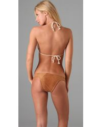 Tigerlily | Brown Aella Suede Bikini | Lyst