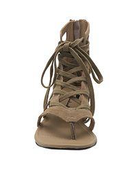 7 For All Mankind - Natural Dylan - Clay Suede Thong Sandal - Lyst