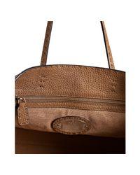 Fendi | Brown Pebbled Leather Selleria Shopping Bag | Lyst