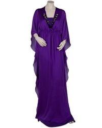 Ghadah - Purple Maxi Kaftan - Lyst