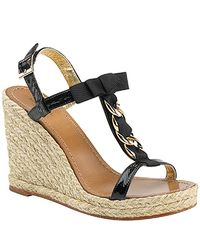 kate spade new york | Brook - Black Chain Detail Espadrille | Lyst