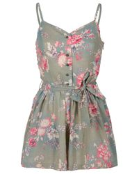 Paul & Joe | Multicolor Floral Strappy Playsuit | Lyst
