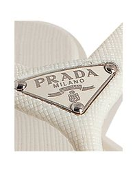 Prada | Sport White Crosshatch Rubber Flip Flops With Carry Case | Lyst