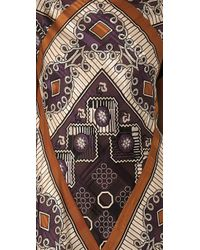 Anna Sui | Purple Handkerchief Dress with Fringe | Lyst