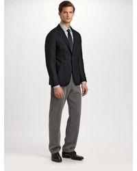 Armani Black Deconstructed Wool/cashmere Blazer for men