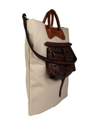 Jas MB | Natural Beige Canvas and Leather Shopper Bag | Lyst